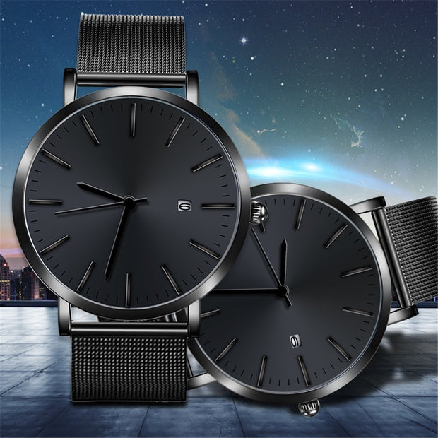 Fashion Men Retro Design Webbing Belt Band Analog Alloy Quartz Wrist Watch #9