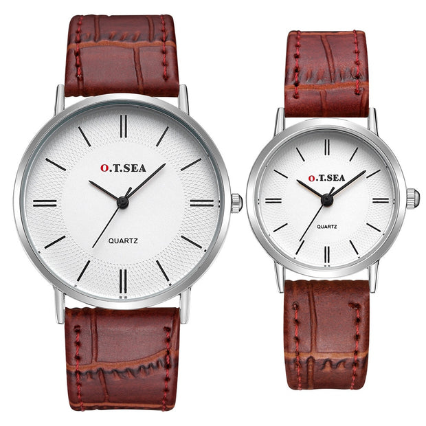 Fashion Men Women A Pair Couple Watch Luxury Lover's Watch Lady Strap Couple Quartz Wrist Watches Relogio Feminino DROPSHIPPING