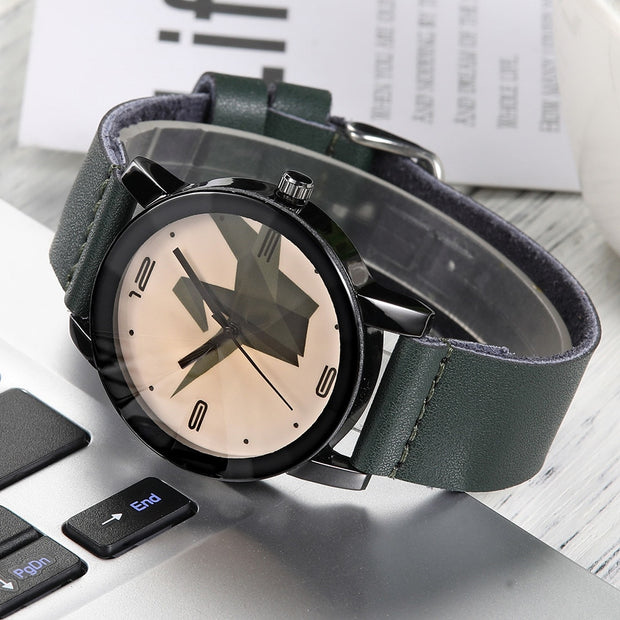 Fashion Men's Paper Crane Leather Band Analog Alloy Quartz Watch Skmei Clock Box Montre Homme Christmas Gift_12.14