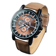 Fashion Men's WatchLuxury Top Brand Business Male Clock Quartz Wristwatch Leisure Leather Quartz Clock Relogio Masculino