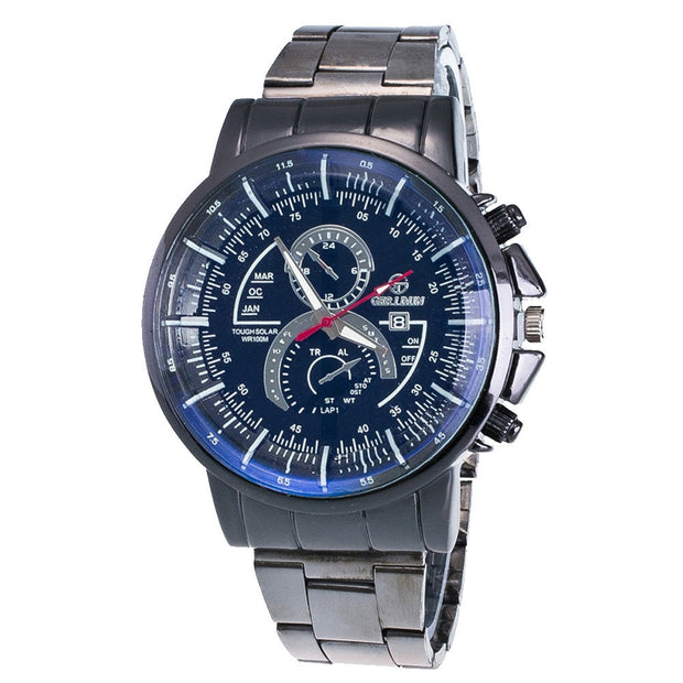Fashion Men's Watch Motion Form Stainless Steel Sport Quartz Hour Wristwatch Mens Watches Top Brand Luxury Reloj Hombre