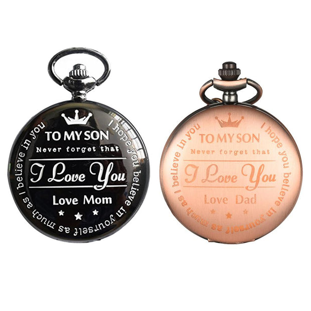 Fashion Mother Round Dial Quartz Analog Pocket Watch Chain Necklace Jewelry Gift SANWOOD