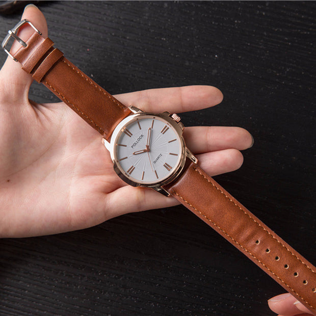 Fashion Quartz Watch Men Watches Top Brand Luxury Leather Male Clock Business Mens Wrist Watch Hodinky Relogio Masculino 2018