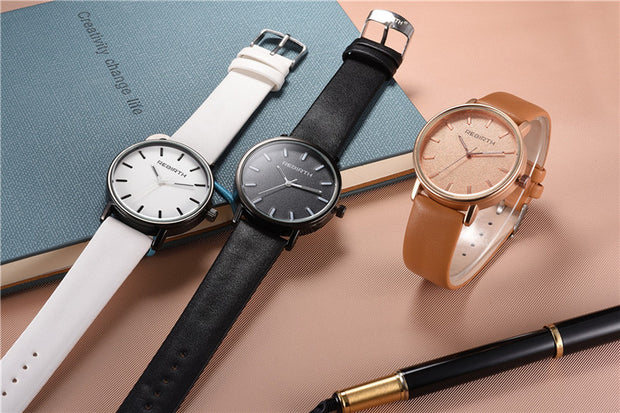 Fashion Rebirth Women Watches Lovers Casual Ladies Top Brand Luxury Quartz Leather Strap Clock Female Clocks Wristwatches Gift