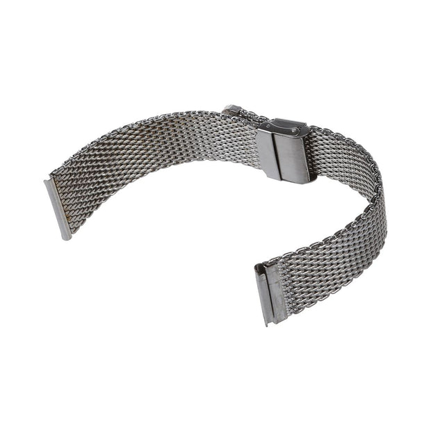 Fashion Steel Silver Replacement Bracelet Watch Strap 18mm New