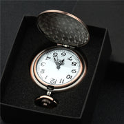 Fashion To My Son Grandson English Letter Carved Pendant Analog Quartz Pocket Watch Gift