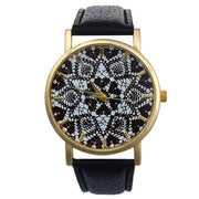 Fashion Unisex Retro Geometric Print Quartz Wrist Watch