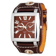 Fashion WoMaGe Brand Watch Women Wristwatches Square Big Dial Quartz Casual Numbers & Strips Hours Pu Leather Watches