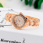 Fashion Women Bracelet Watch 2018 Luxury Ladies Diamond Stainless Steel Quartz Wrist Watch Hodinky Female Gold Watch Reloj Mujer
