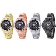 Fashion Women's Ladies Watches Crystal Stainless Steel Analog Quartz Wrist Black ,Golden ,Rose Gold And Silver Watch Simple