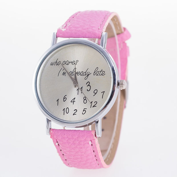 Fashion Women's Watches Quartz Lady Alphanumeric Pattern Letter Quartz Wrist Watch Relogio Feminino Saat