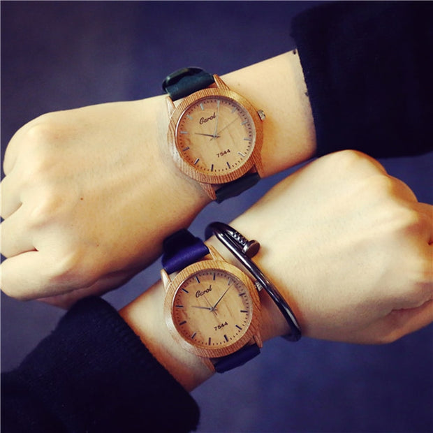 Fashion Wood Watch Women Bracelet Simple Ladies Dress Quartz Clock New Leather Strap Wrist Watch Dropshipping Relojes Mujer 2019