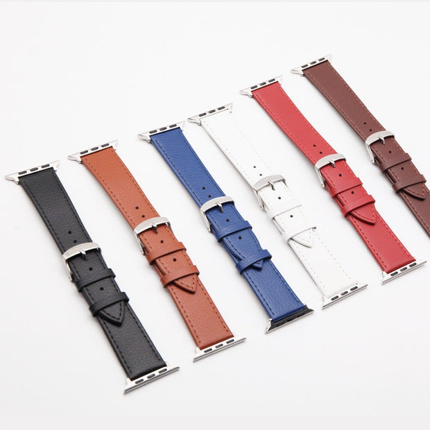 Fashion Leather Apple Watch Accessories Stainless Steel Polished Silver Buckle For Iwatch 42mm/44mm 38mm/40mm Series1/2/3/4