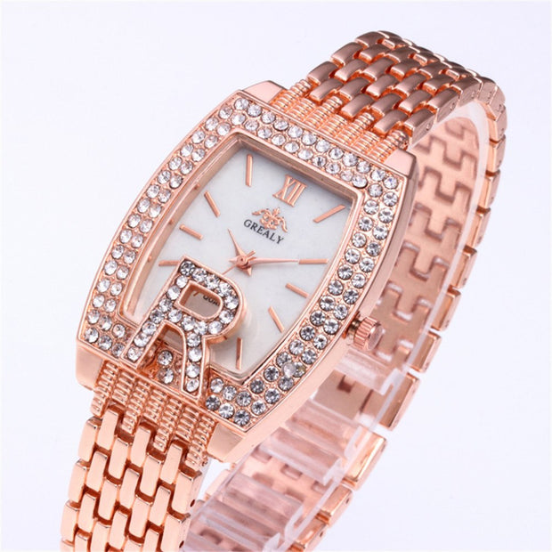 Fashion Temperament Watches Women All Metal Stainless Steel Gorgeous Casual Watch Luxury Analog Quartz Starry Sky Wristwatch