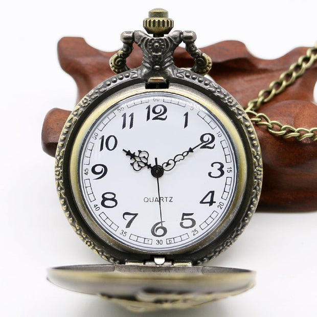 Fashion Vintage British Locomotive Quartz Big Pocket Watch Sweater Chain Large Pocket Watch