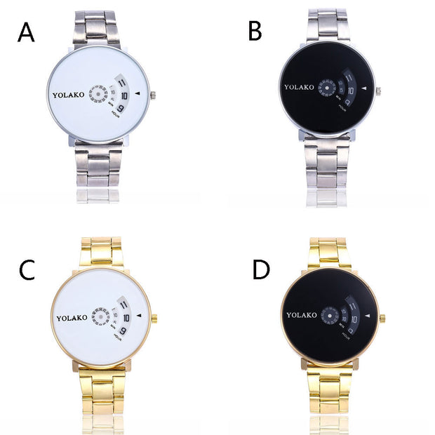 Fashionable High Hardness Glass Mirror Men And Women General Steel Belt Watch Hot 2019 New Arrival Luxury Reloj Mujer