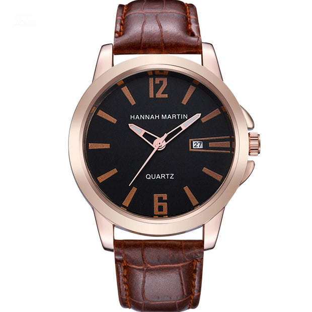 Fast Sending Fashion Men Luxury Mens Date Leather Stainless Steel Sport Quartz Wrist Watches For Men's And Couples Drop Shipping