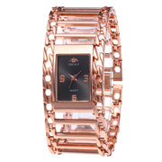 Full Diamond Steel Strip Ms. Quartz Analog Watch Diamond Watch Rose Gold Girls Ladies Hot Sale Flowers Dress Christmas Gift