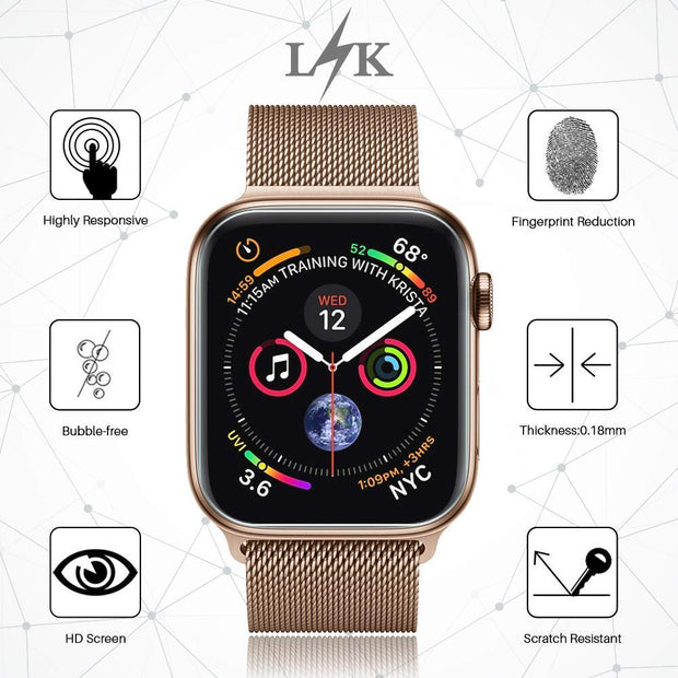 Full Screen Protector For Apple Watch 4 44mm 40mm Iwatch 4 Band Film 9D Anti-Shock TPU Protective Cover Watch Accessories