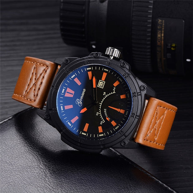 GONEWA Business Men Watches Fashion And Contracted Males Classics Watches Gifts Luxury Watch Steel Calendar Quartz 2018 20