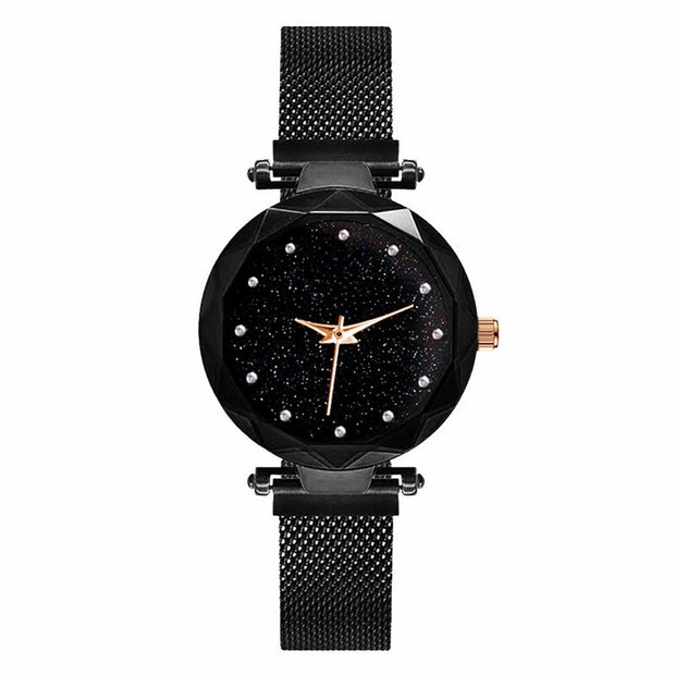 Girl Watch Fashion Children Clock Quartz Small Size Magnet Buckle Cartoon Starry Sky Kid Wrist Watches Female Student Bracelet S