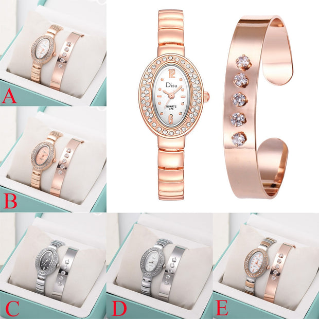 Gofuly 2019 Women Watches Light Crystal Luxury Ladies Watch Bracelet Set Chain Watch Gift Simple Classic Fashion Wristwatch