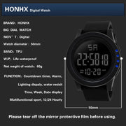 HONHX Brand LED Waterproof Digital Quartz Fashion Watch Military Sport Wristwatches For Men's Reloj Digital Hombre 2017 #1116