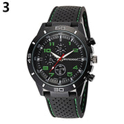 High Quality Outdoor Design Men's Fashion Silicone Band Stainless Steel Analog Sport Quartz Wrist Watch