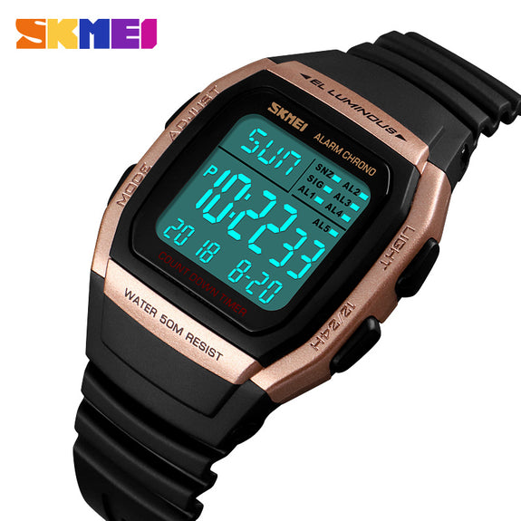 Fashion Men Watches Dress Led Digital Women Sports Watch El Back Chrono Wristwatch Waterproof Reloj Hombre 2018 Skmei And To Have A Long Life. Digital Watches