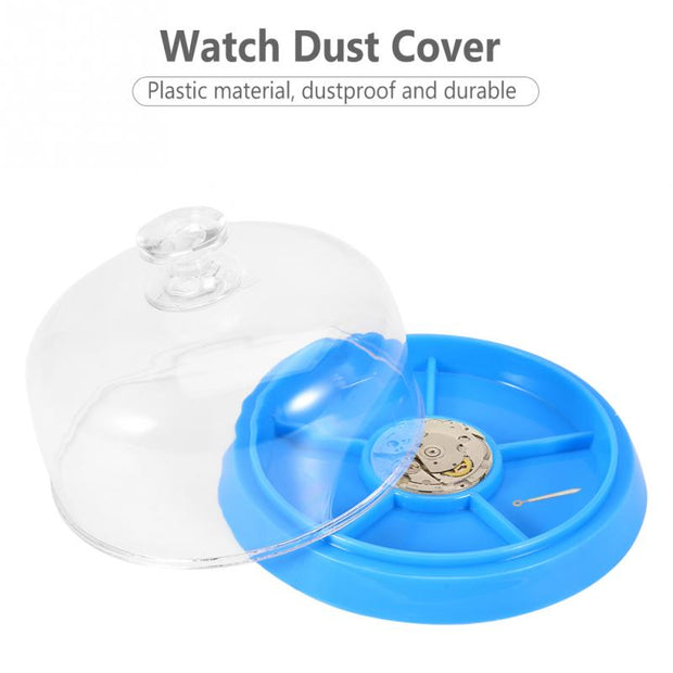 Hot Sale New Arrival!!!Plastic Watch Dust Sheet Cover Guard Tray Watch Movement Accessory Dust Cover Plastic Tray Repair Tool