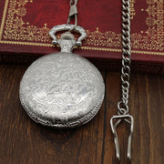Hot Sale New Fashion Creative Design Men's Pocket Watch, Steampunk DAD Sliver Pendant Quartz Pocket Watch, Gift For Men