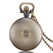 Hot Sale New Fashion Design Men's Pocket Watch, Bronze Retro Gear Small Necklace Pocket Watch, Unique Gift For Men