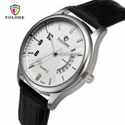 Hot Sales Men's Date Stainless Steel Leather Analog Quartz Military Watch Business Luxury Clock 0717
