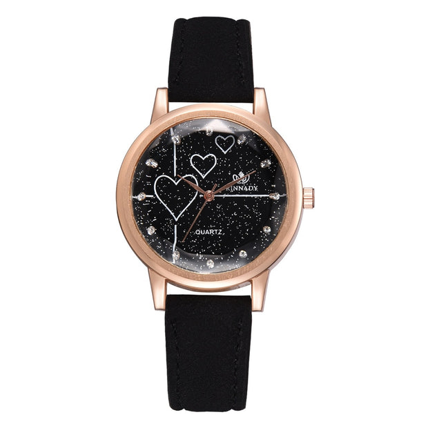 Korean Style Women's Watch Loose Powder Star Inlaid Rhinestone Scale Quartz Watch Direct Spot Wholesale