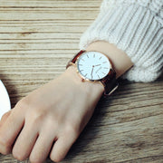 Korean Version Of Large Dial Watches, Leisure, Thin, Neutral Tide Sheets, Students, Simple Belts, Lovers, Quartz Watches.