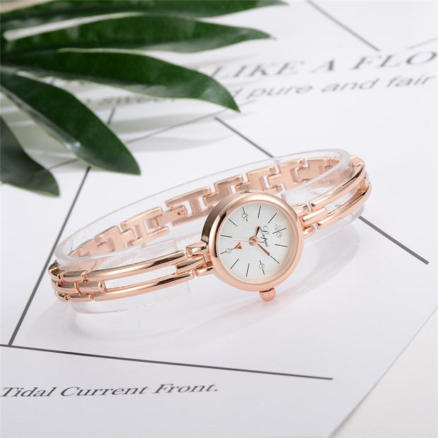 LVPAI Women Watches Fashion Woman Stainless Steel Crystal Dial Quartz Crystal Stone Bracelet Luxury Wrist Watch Lady Dress G20