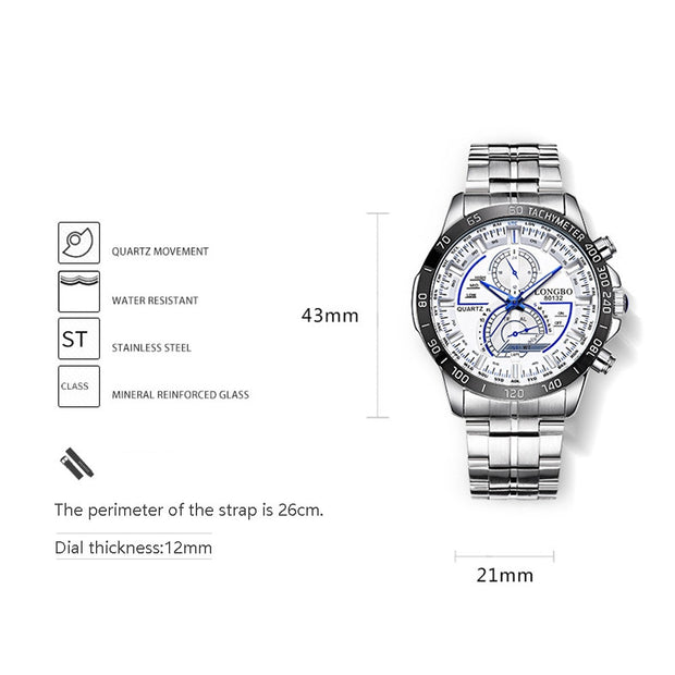 Ladies Quartz Wristwatch Multifunctional Steel Belt Men's Watch Casual Waterproof Luminous Watch Female Clock Relogio Feminino