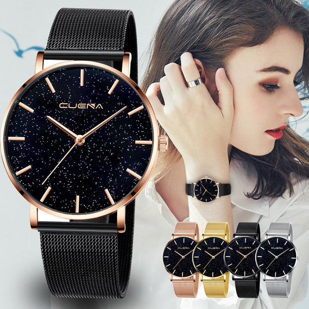 Ladies Watch Starry Sky Diamond Dial Women Lady Dress Bracelet Watches Magnetic Stainless Free Shipping #30