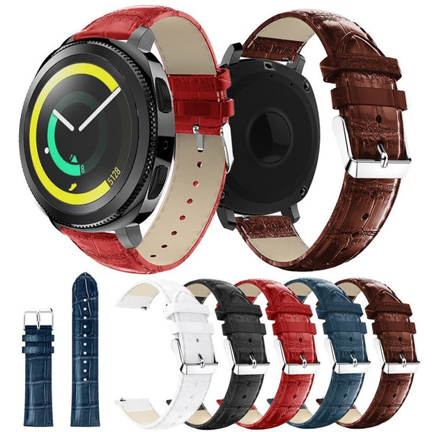 Leather Wrist Strap For Samsung Gear S3 Classic Frontier Strap For Gear S2 Watchband 22mm Watch Band Bracele Replacement Strap