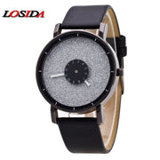 Losida Brand Women's Leather Strap Wrist Watch C Style Fashion Rhinestone Simple Dial Japan Movement Quartz Ladies Watch Relogio