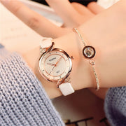 Losida Korean Version Fashion Simple Refreshing Temperament Female High School Students Europe Retro Compact Women's Watches