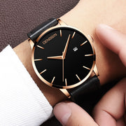 Luxury Brand Men's Quartz Clock Man Army Military Leather Date Wrist Watch Relogio Masculino New Arrival