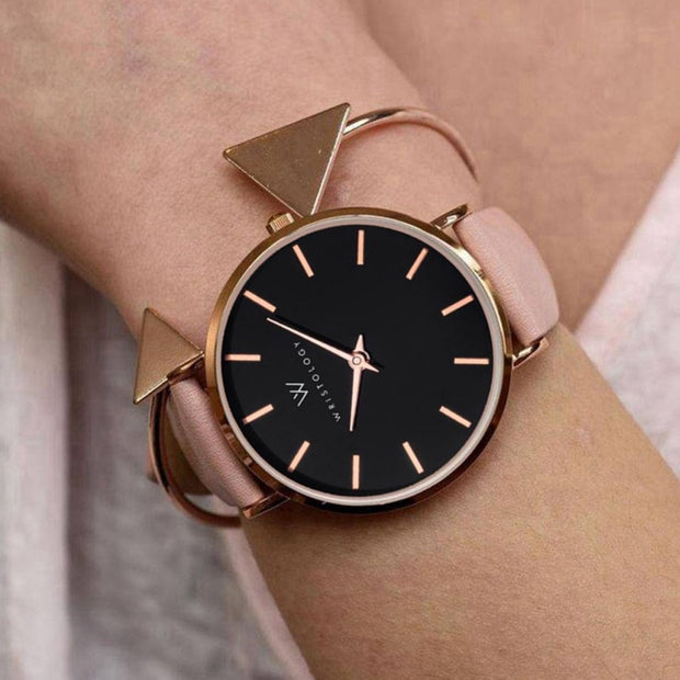 Luxury Elegant Simple Dial Design Watches Popular Ladies Leather Wristwatch For Women Girls 292607