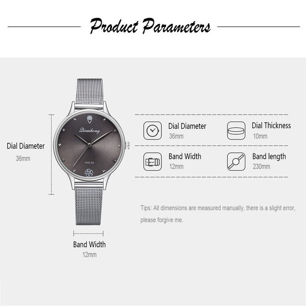 Luxury Fashion Women Watch Stainless Steel Analog Quartz Wristwatch Rhinestone Ladies Casual Bracelet Watch Montre Femme Relogio