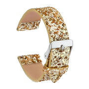 Luxury Glitter Christmas Strap For Xiaomi Huami AMAZFIT Band Metal Buckle Leather Watchbands Bracelet 22mm