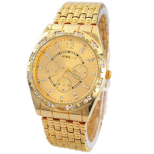 Luxury Gold Silver Watches Women Men Diamond Metal Band Analog Quartz Fashion Wrist Watch 2019 Reloj Hombre Gift Free Shipping