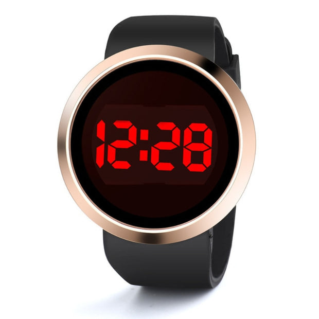 Luxury LED Touch Screen Watch Fashion Digital Watch Men Electronic Men's Watch Silicone Band Men Watches Clock Relogio Digital