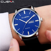 Luxury Men's Watch Fashion Quartz-watch Waterproof Man Watches CUENA Brand Luxury Relojes Hombre Leather Relogios Masculinos
