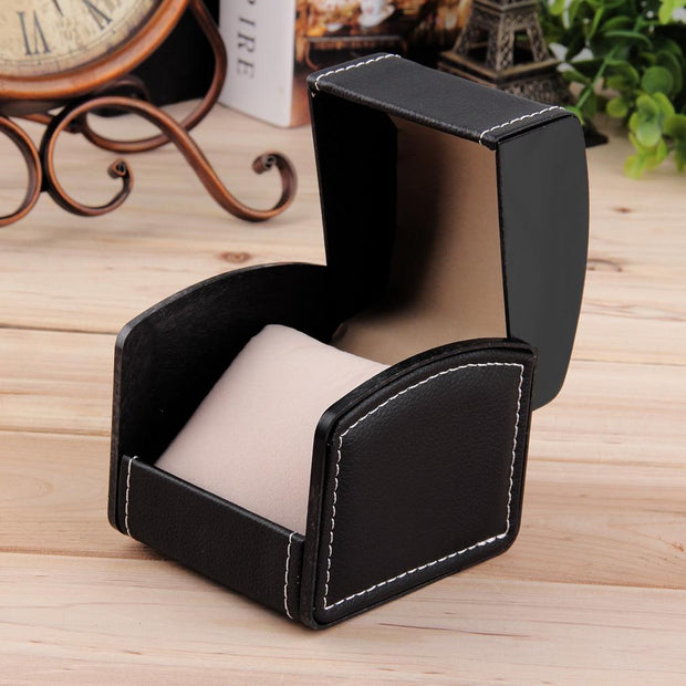 Luxury Plain Pattern PU Leather Watch Jewelry Display Box Case Storage Boxes Luxury Gift Caixa Para Relogio New Arrivals