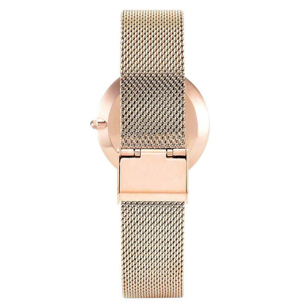 Luxury Relogio Feminino Women's Watches Coral Shell 2018 Fashion Women Stainless Steel Mesh Strap Casual Quartz Wrist Watch